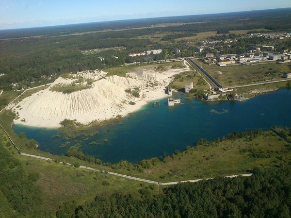 Sky view on Murru quarry, pic by Siiri Kuusmann